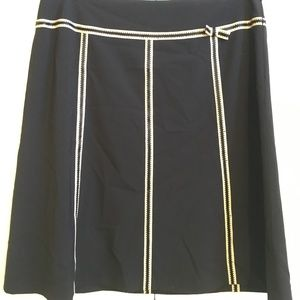 A Not-Boring-At-All Black A-Line skirt